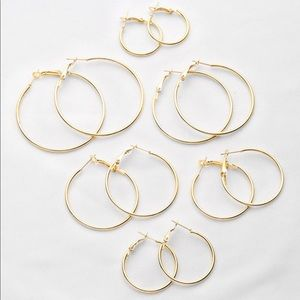 3/$30 💛 6pc Hoop Earrings